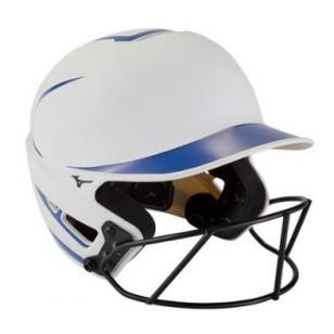 Mizuno F6 Batting Helmet with Fastpitch Mask