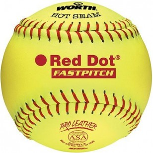 Worth Red Dot Fast Pitch Softballs