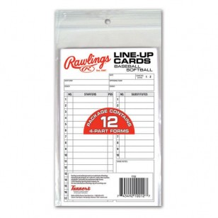 Rawlings System 17 Line-Up Cards